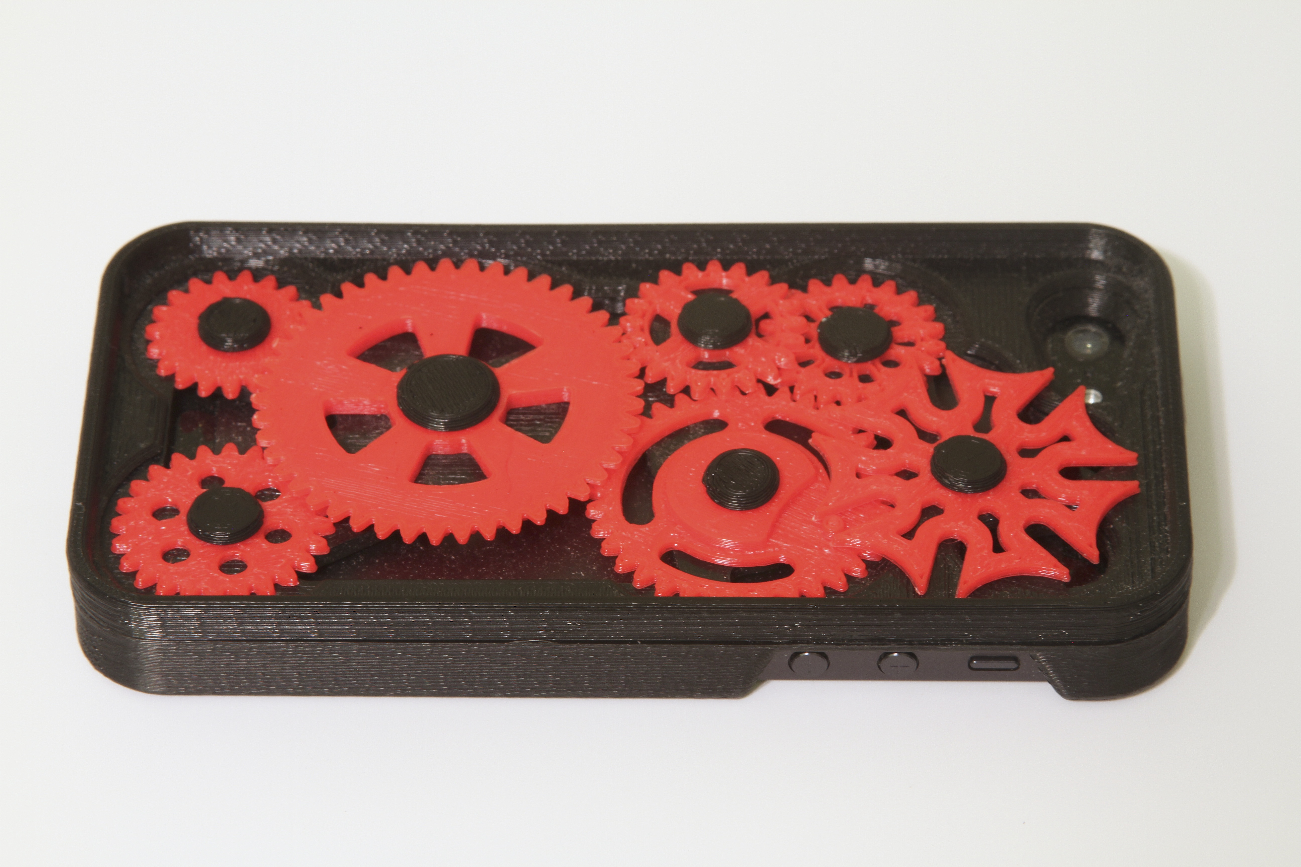 Case Design 3d printer for phone cases iPhone 5 Case with Moving Gears and Geneva Mechanism : 3D Universe