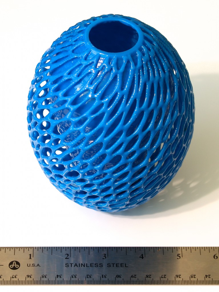Cellular Cocoon Vase, by Dizingof, with Acetone Vapor Treatment