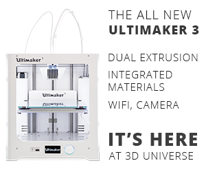 Ultimaker 3 Dual Extrusion 3D Printer